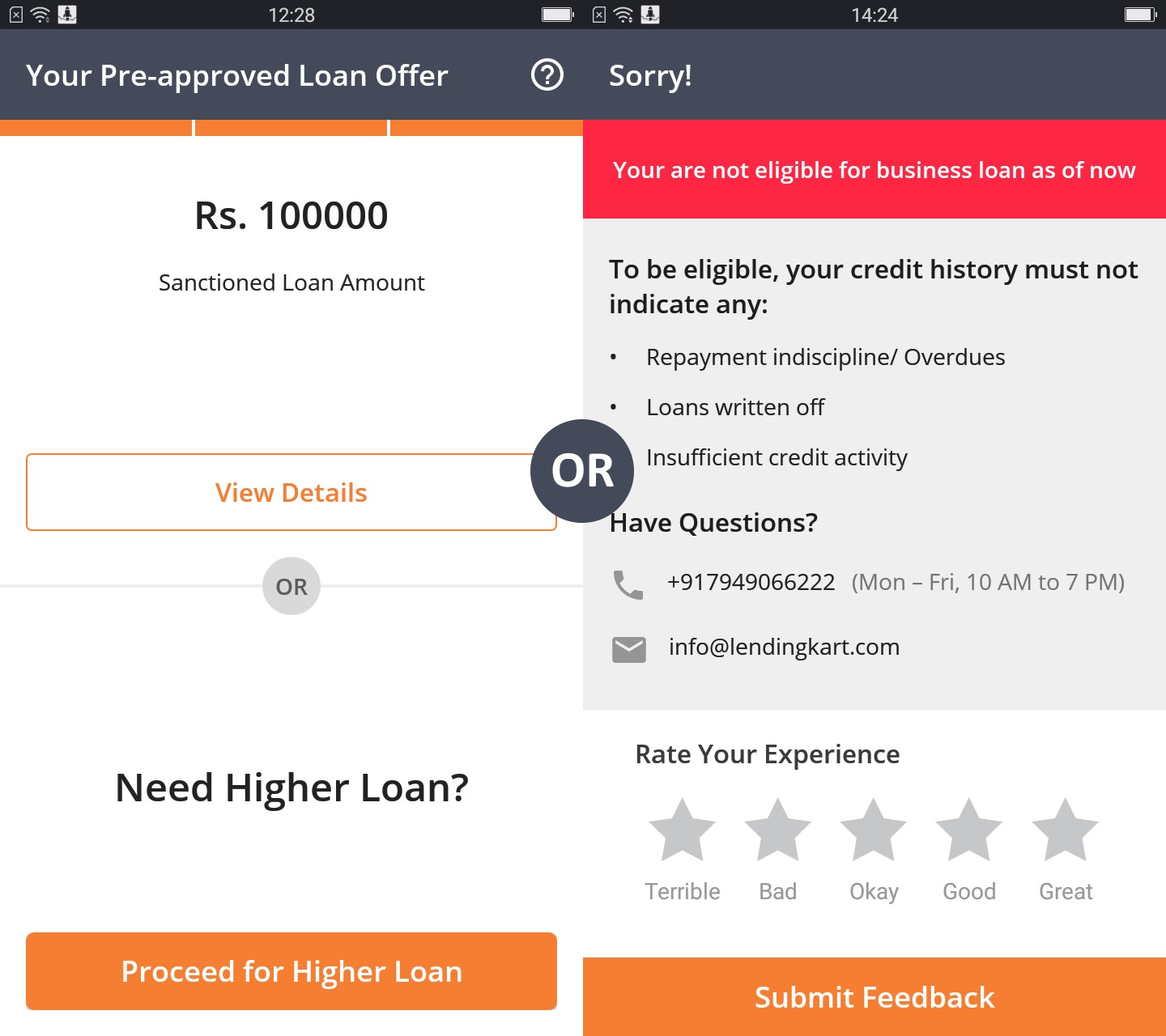 Lendingkart Instant Business Loans - Post PAN Verification
