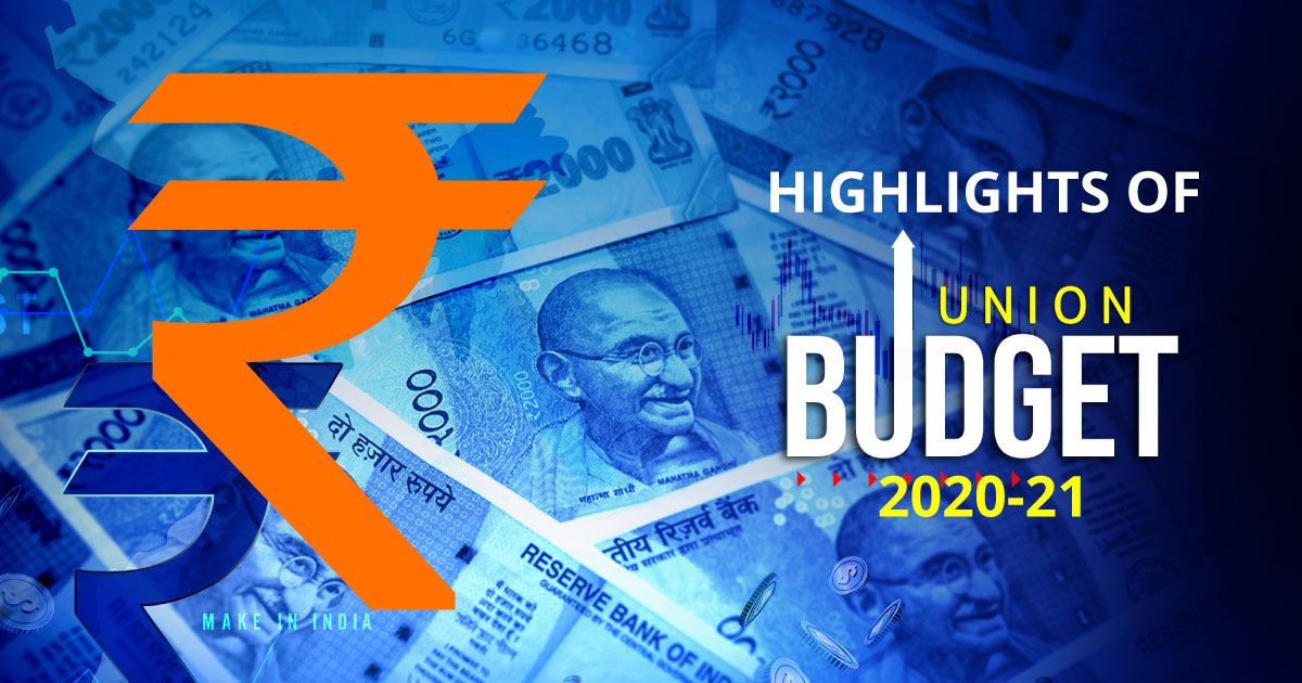 highlights of union budget 2020-21