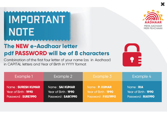 How to Open e-Aadhaar Card PDF after Downloading?