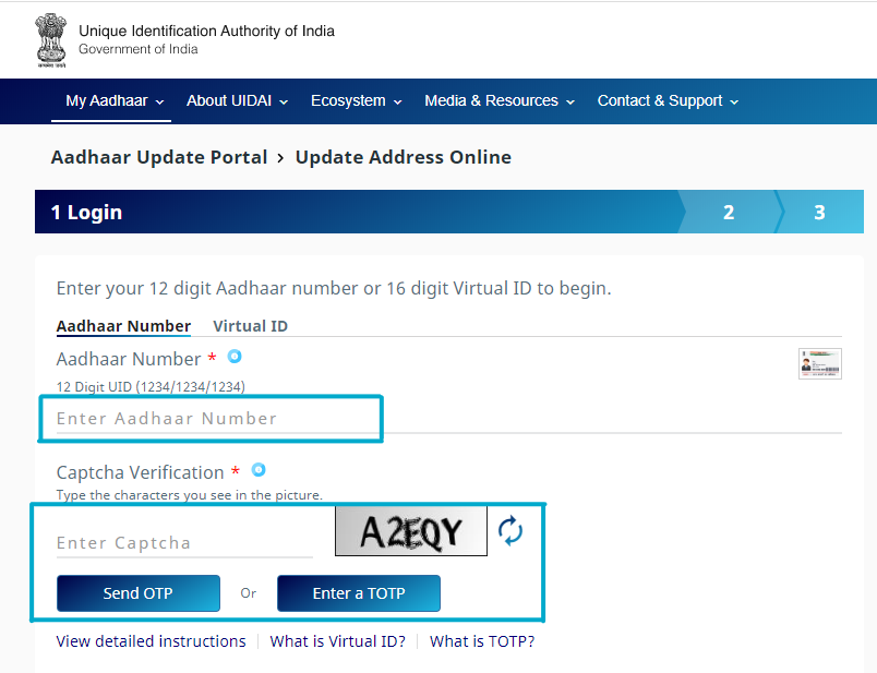 Update Aadhaar Card Address-3