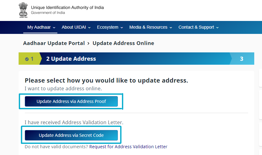 Update Aadhaar Card Address-4