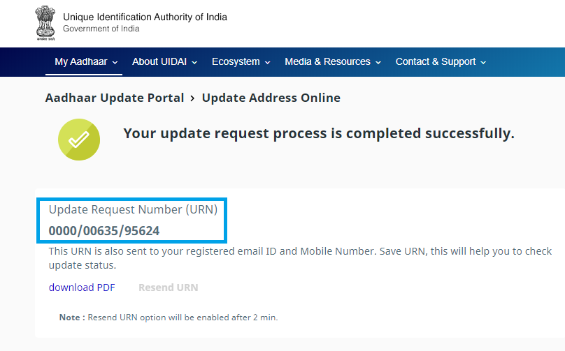Update Aadhaar Card Address-8