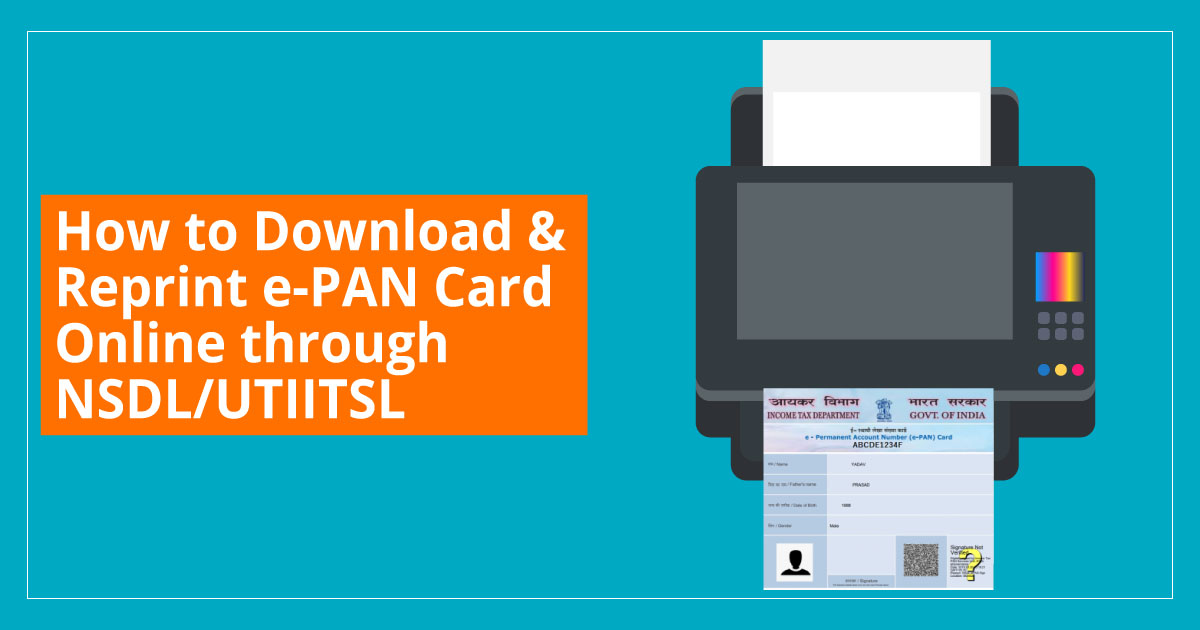 How to Download & Reprint Duplicate e-PAN Card Online through NSDL/UTIITSL