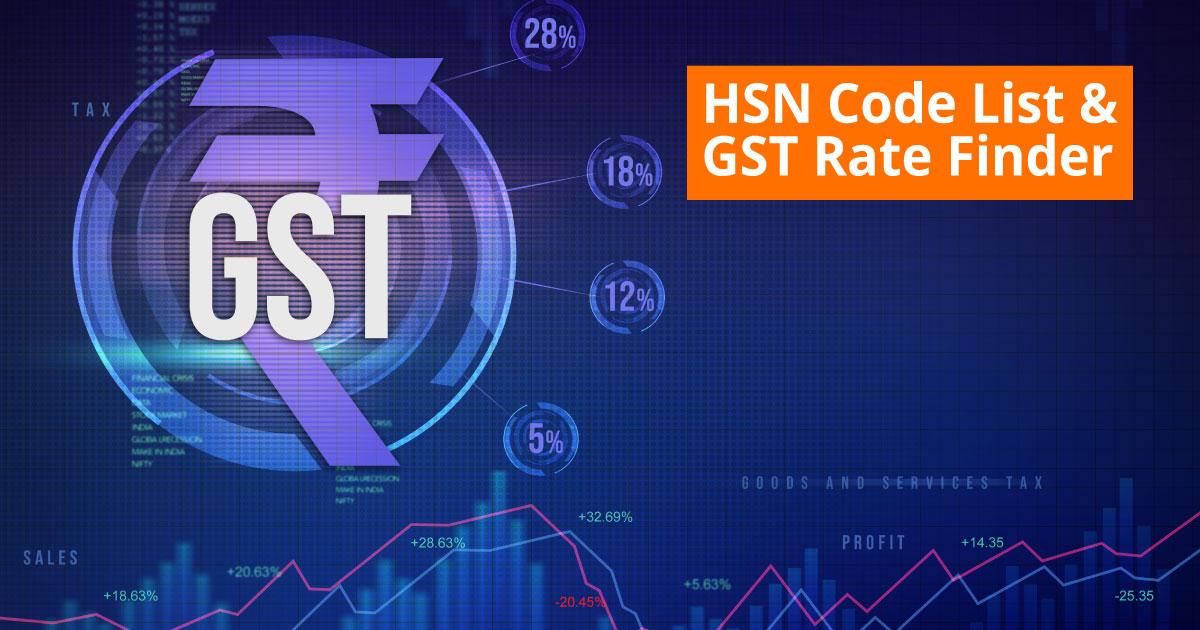 HSN Code List & GST Rate Finder